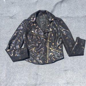 Rock & Republic black patterned biker jacket S